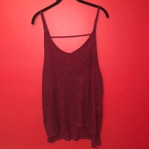 Express rubbed oversized cami. Like new.